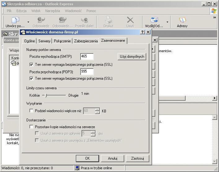 b674a0d17f8f32 Jeśli konfiguracja wygląda tak jak poniżej, kliknij OK W zakładce  Zaawansowane ustaw porty i kliknij OK